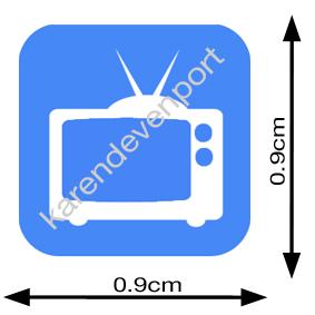TV icon sticker