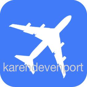 Aeroplane icon sticker