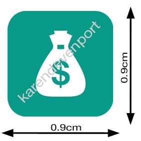 Bag of money payday sticker