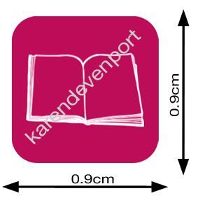Book icon sticker