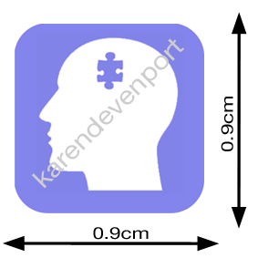 Psych Brain icon sticker