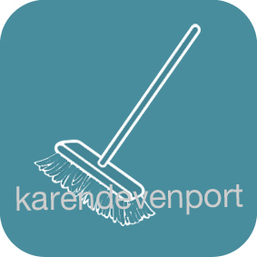 Broom sweeping cleaning sticker