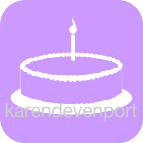 Birthday Cake icon sticker