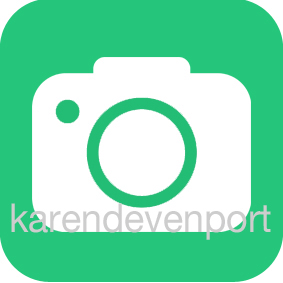 Camera icon sticker