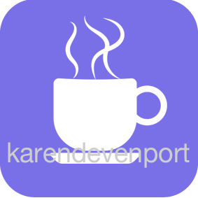 Coffee tea cup icon sticker