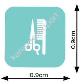 Comb and scissors sticker