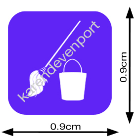 Mop and Bucket Cleaning icon sticker