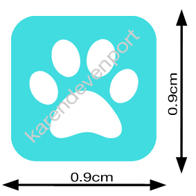 Pawprint Pet Animal icon sticker
