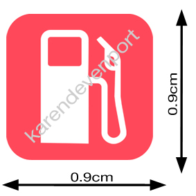 Petrol Pump sticker
