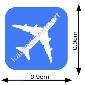 Aeroplane icon sticker