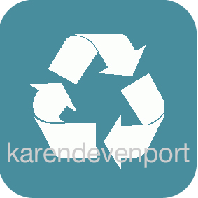 Recycling icon sticker