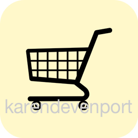 Shopping Trolley icon sticker