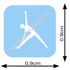Triangle pose sticker