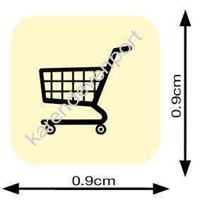 Shopping Trolley icon sticker