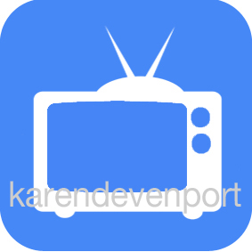 TV icon sticker