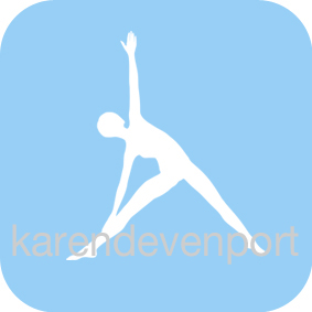 Yoga Triangle pose icon sticker